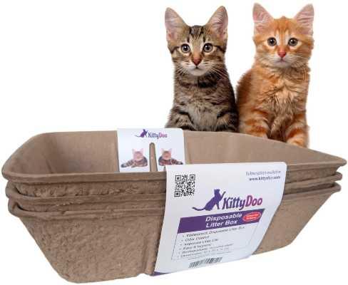 arenero para gatos desechable biodegradable