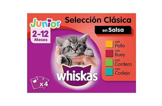 Comida húmeda gatos junior Whiskas Amazon