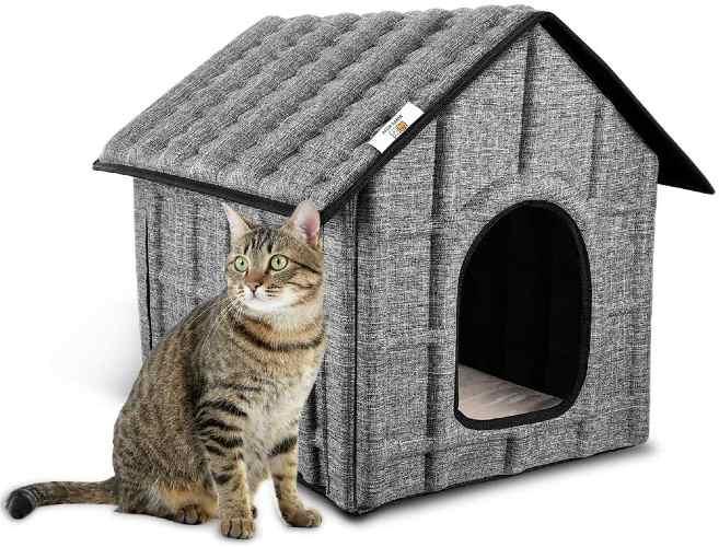 caseta para gatos para jardín o exterior